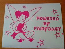 tinkerbell fairy girls girly vinyl car sticker wall art laptop novelty fun decal