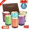 Set of 6 Bell Jar Wick Candles Scents-Orchid/Mint/Lemon/Rose/Lavender/Vanilla US