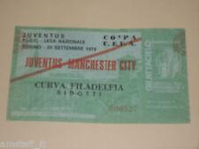 JUVENTUS MANCHESTER CITY BIGLIETTO TICKET 1976 1977 COPPA UEFA UEFA CUP