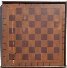 Antique PA Folk Art Game Board Primitive Checkers Chess Paint Americana Signed