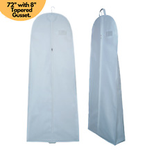 """Breathable 72"""" Long Wedding Dress Cover Prom Bridal Gown Garment Storage Zip Bag"""