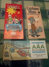 1960 - 70s AAA Automobile Club Brochures Rochester NY + Great Old Customs Guide