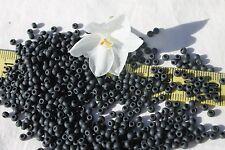 8/0 Czech Opaque Black Matte Seed Beads Crafts Jewelry Making/ 1oz