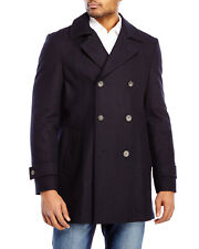 NWT Mens $395 Tommy Hilfiger double breast  mid length wool pea coat size 48R