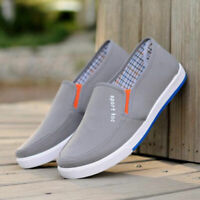 Men's Canvas Shoes Casual Plimsolls Casual Loafers Slip On Sport Running Sneaker