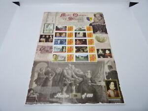 Bradbury History of Britain Smiler Stamp Sheet No. 52 Mary Queen Of Scots
