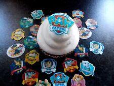 24 Precut Edible Small Paw Patrol wafer paper cake/cupcake toppers