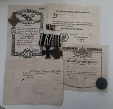 MEDAL WW1 GERMAN TO PAUL LANGE + MEDALS + WOUND BADGE + CERTIFICATES