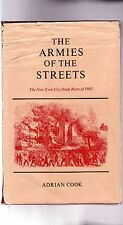 uncmn-NEW YORK CITY DRAFT RIOTS OF 1863-uncmn FIRST EDITION, hardcover/DJ, A+