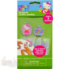 HELLO KITTY CHARM JEWELRY KIT ~ Birthday Party Supplies Favors Bracelet Necklace