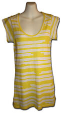 COUNTRY ROAD Size XXS Canary Yellow Striped Long Line T-Shirt