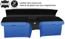 BLACK&BLUE REAL LEATHER REAR STORAGE PANEL COVERS FITS HONDA CRX DEL SOL 92-97