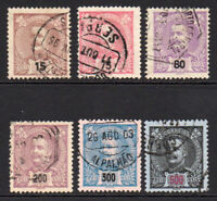 Portugal 6 Stamps c1895-05 Used (6464)