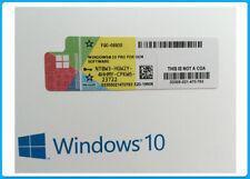 Windows 10 Pro Coa Sticker - 32/64Bits  Multi Language - Brand New / From Spain