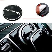 AMG Multimedia Control Badge 52mm Emblem Sticker For Mercedes New E C Class GLC