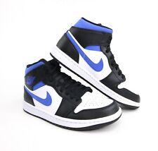 Nike Air Jordan 1 Mid White Game Royal Blue Black Mens & GS 554724-140