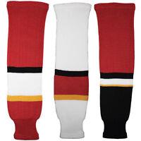 Calgary Flames Knitted Classic Hockey Socks - Red Black White
