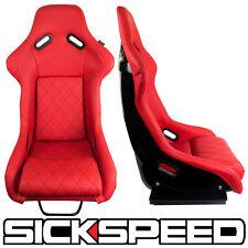 SICKSPEED GAIJIN SERIES RED DIAMOND STITCH RACING VIP BUCKET SEATS P1