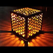 Leuchtwürfel aus Stahl mit Lochblech von LICHTfunken - Lichtwürfel Cube / Würfel