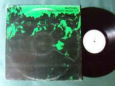 MATERIAL Temporary music LP 1981 Italian press RED RECORDS RS 12000 BILL LASWELL
