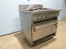 Snorklerwolf Hd Commercial Natural Gas Radiant Charbroiler Withconvection Oven