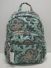 Vera Bradley Essential Backpack Laptop Bag Fan Flowers NWT