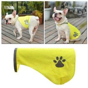 Reflective Dog Safety Vest High Visibility Fluorescent AU. Pet Pets Coat E4B1