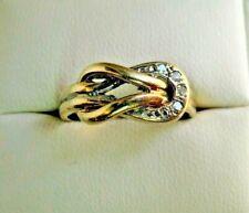 Vintage 9 Carat Gold Diamond Ring Size L