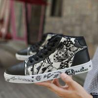 Men's Women's Outdoor Skateboard Shoes Casual Breathable Sport Graffiti Sneakers