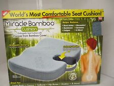 AS SEEN ON TV MIRACLE BAMBOO ORTHOPEDIC SEAT CUSHION W/ COVER SUPPORT KW 1474