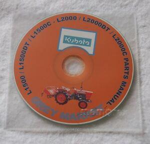 Kubota L1500,1500DT / C - L2000,2000DT / C Parts Manual CD (Japanese / English)