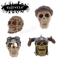 4 Pattern Human Skull Decor Prop Skeleton Plastic Head Halloween Ornament Decor