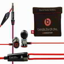 Monster HTC Beats by Dr Dre iBeats In Ear Headphones Earphones Headset Black