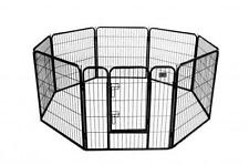 "New Quality Black 32"" 8 Panel Heavy Duty Pet Playpen Dog Exercise Pen Cat Fence"