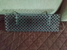 "Vintage Mid Century Wire Mesh Wall Shelf 14""L"