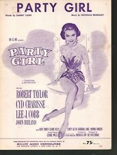 Party Girl 1958 Cyd Charisse Sheet Music