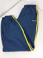 Vtg 80s Adidas Lined Blue Yellow Stripe Basketball Soccer Training Track pants M