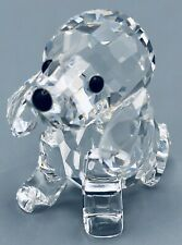 "Swarovski Crystal #158418 Sitting Beagle Puppy Dog w/ Frosted Tail ""Pets Corner"""