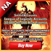 🏰NA 50K+ League of Legends Account Unranked Smurf Lvl 30 LOL [50000-60000 BE]🏰