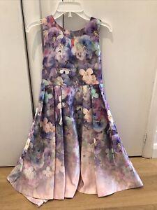 Girls Designer John Rocha Floral Dress Age 10 Years