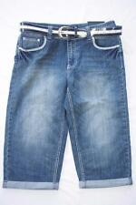 Womens Denim Capris Size 12 Contemporary Fit Low Rise with Belt NWT