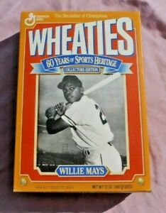 1993 WILLIE MAYS WHEATIES CEREAL BOX NEVER OPENED, COLLECTORS EDITION