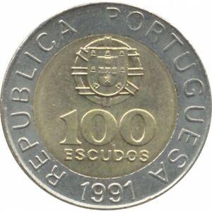 PORTUGAL 100 ESCUDOS 1991 TTB+