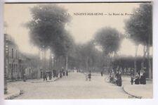 CPA   NOGENT SUR SEINE 10 - ROUTE DE PROVINS PASSAGE A NIVEAU ANIMEE 1916 ~C72