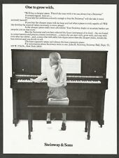 Steinway & Sons pianos     - 1981 Vintage Print Ad