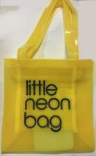 LITTLE NEON YELLOW PVC SHOPPER HAND BAG TOTE SWIMMING BEACH PICNIC SHOPPING