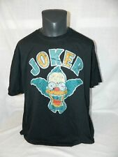 KRUSTY the CLOWN T Shirt Mens 2XL JOKER The Simpsons Navy Short Sleeve XXL
