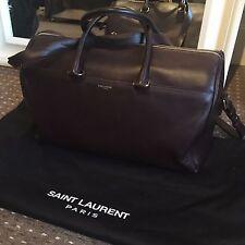 YSL Saint Laurent Burgundy 12hr Duffle Bag