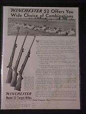 OLD VINTAGE ~WINCHESTER GUN TARGET SHOOTING RIFLE~ART PRINT AD ANTIQUE ORIG 1941