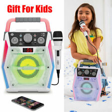 Karaoke Machine System Speaker Portable With Led Disco Lights Microphone for kid